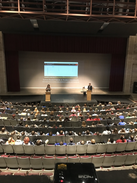 Pemberton Law with Grades 8 & 9 to discuss Social Media Use