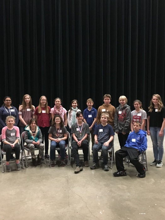 2018-2019 District 2170 Spelling Bee Participants