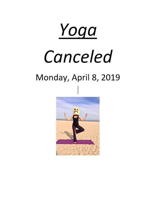 Yoga canceled