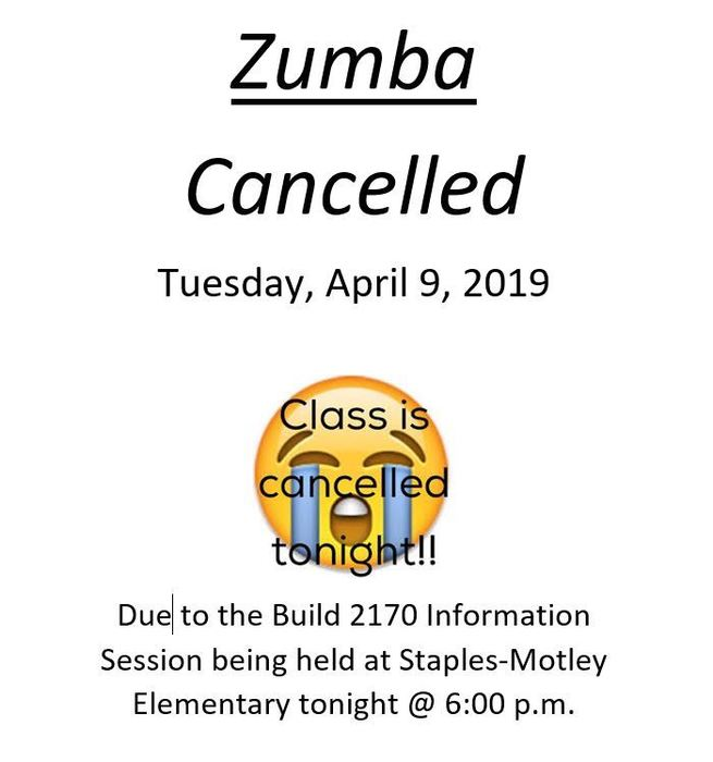 ZUMBA CANCELLED