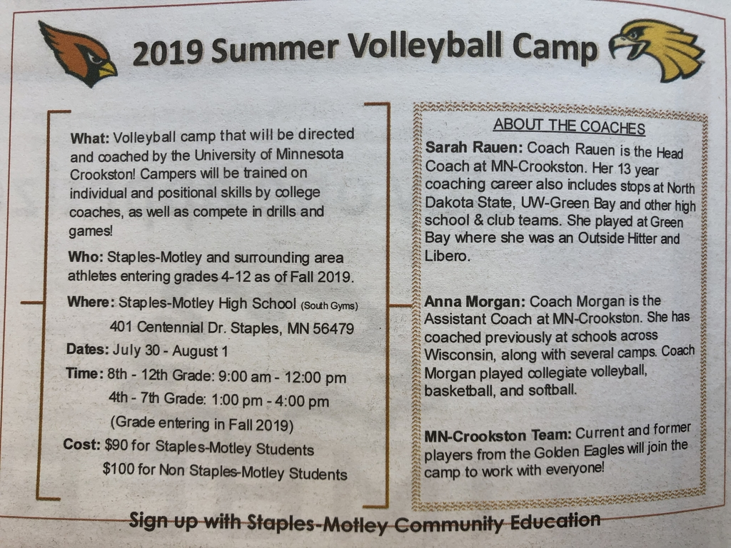Volleyball Camp Ad