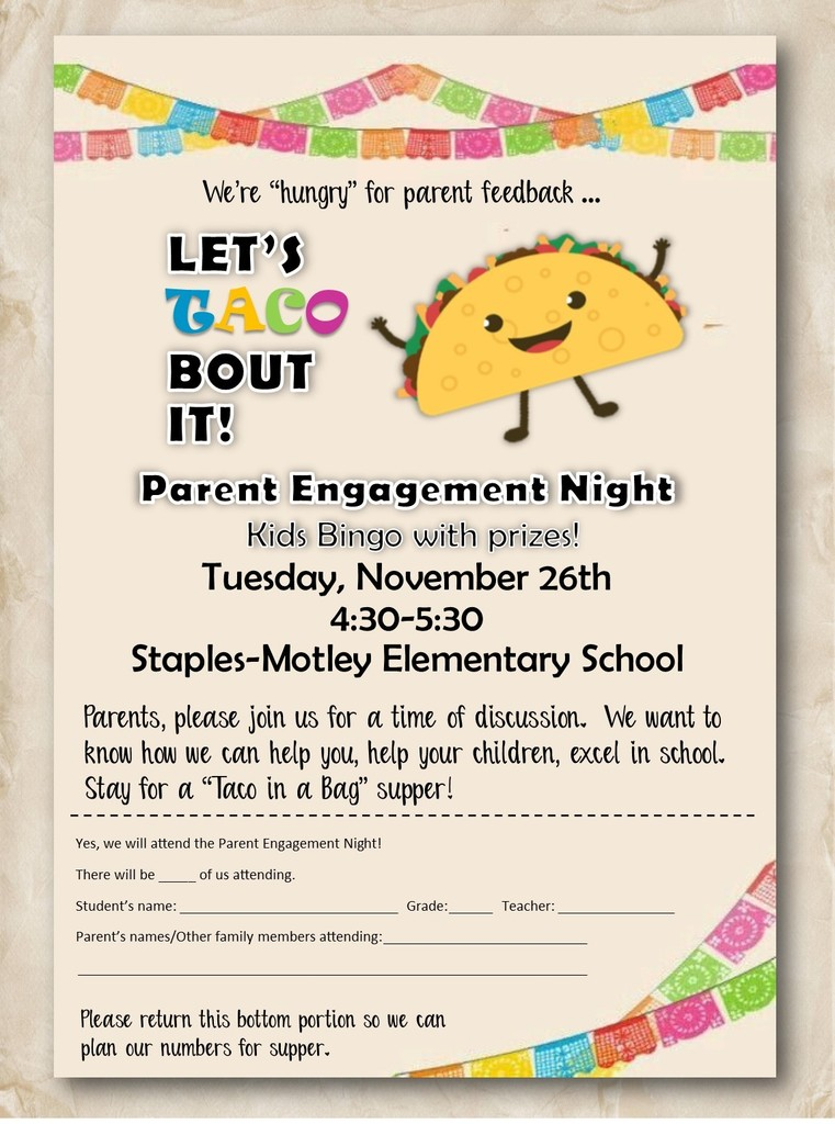 Let's Taco 'Bout It - Tuesday Nov 26, 4:30-5:30pm