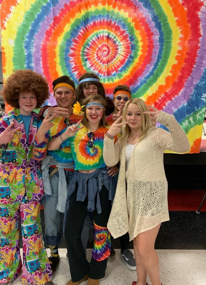 Totally psychedelic backdrop for Sadies photos!