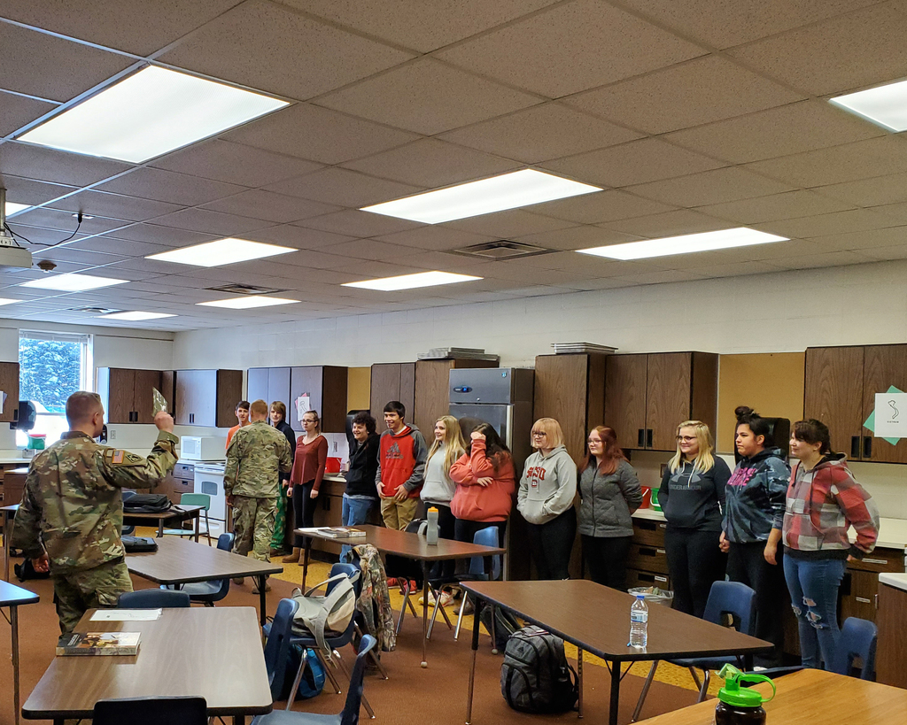 MN National guard talks MRE's with ProStart