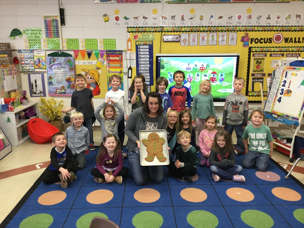 Ms. Stiner's class found a tasty Gingerbread Man!