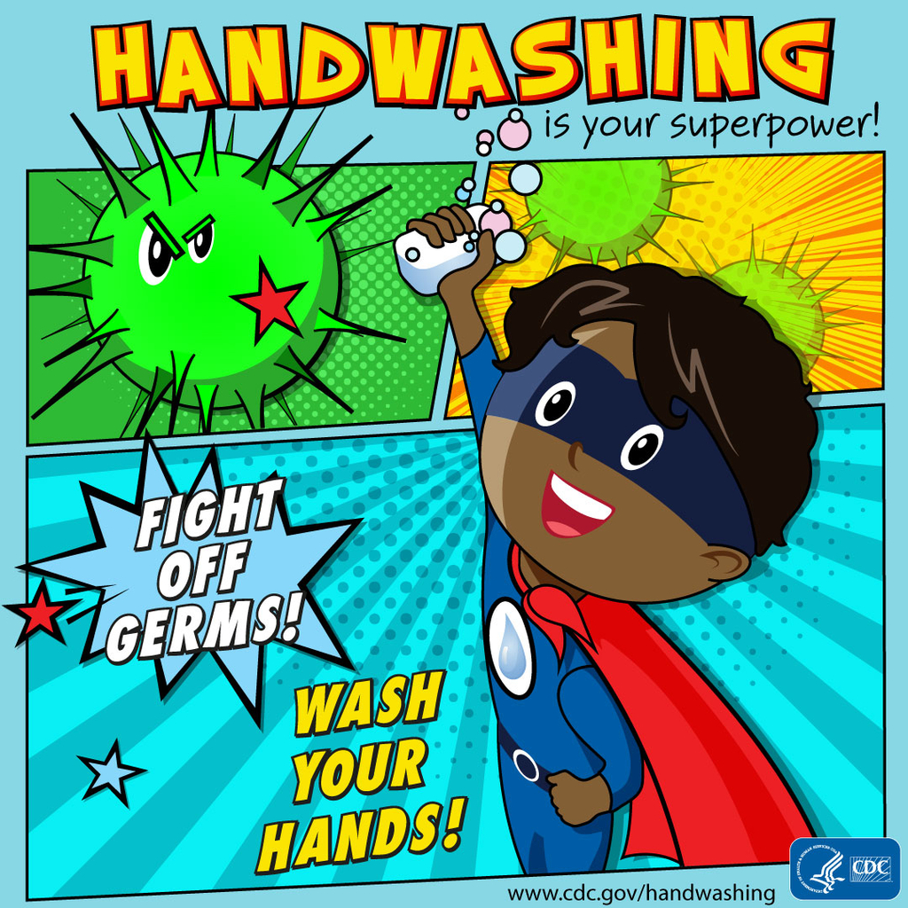Wash your hands to fight the flu!