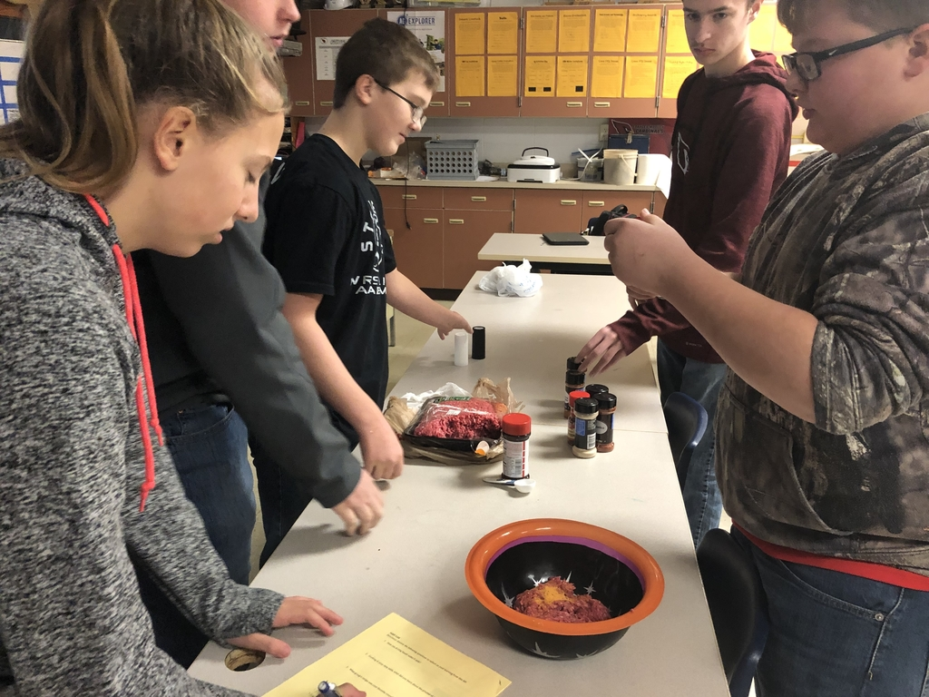 Students in Mr. Ramstad's Make it Happen class made their own beef jerky this week! They then made packaging and marketing materials for their jerky! We are excited to taste test and vote on our favorites today in class!