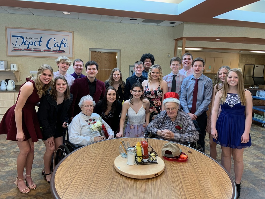 SnoDaze Royalty young and old at Lakewood Care Center