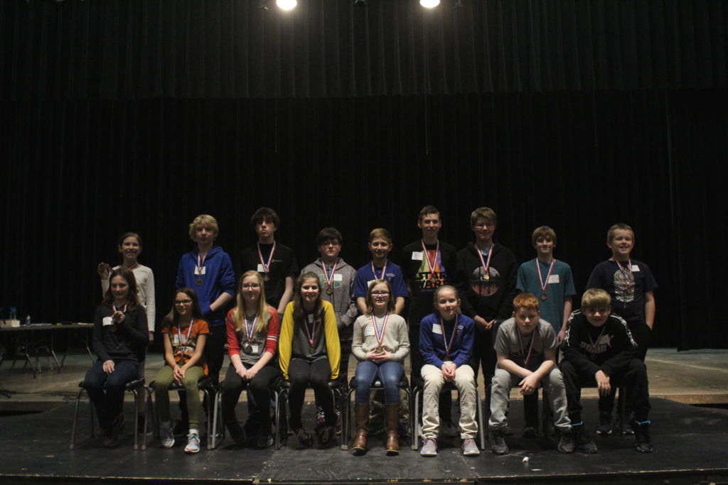 2020 Spelling Bee Participants from Sacred Heart and Staples-Motley Middle School grades 5-8