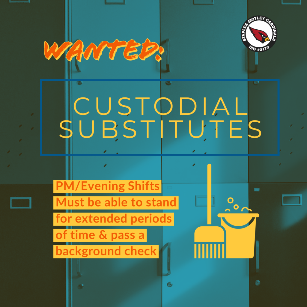 custodial subs wanted!