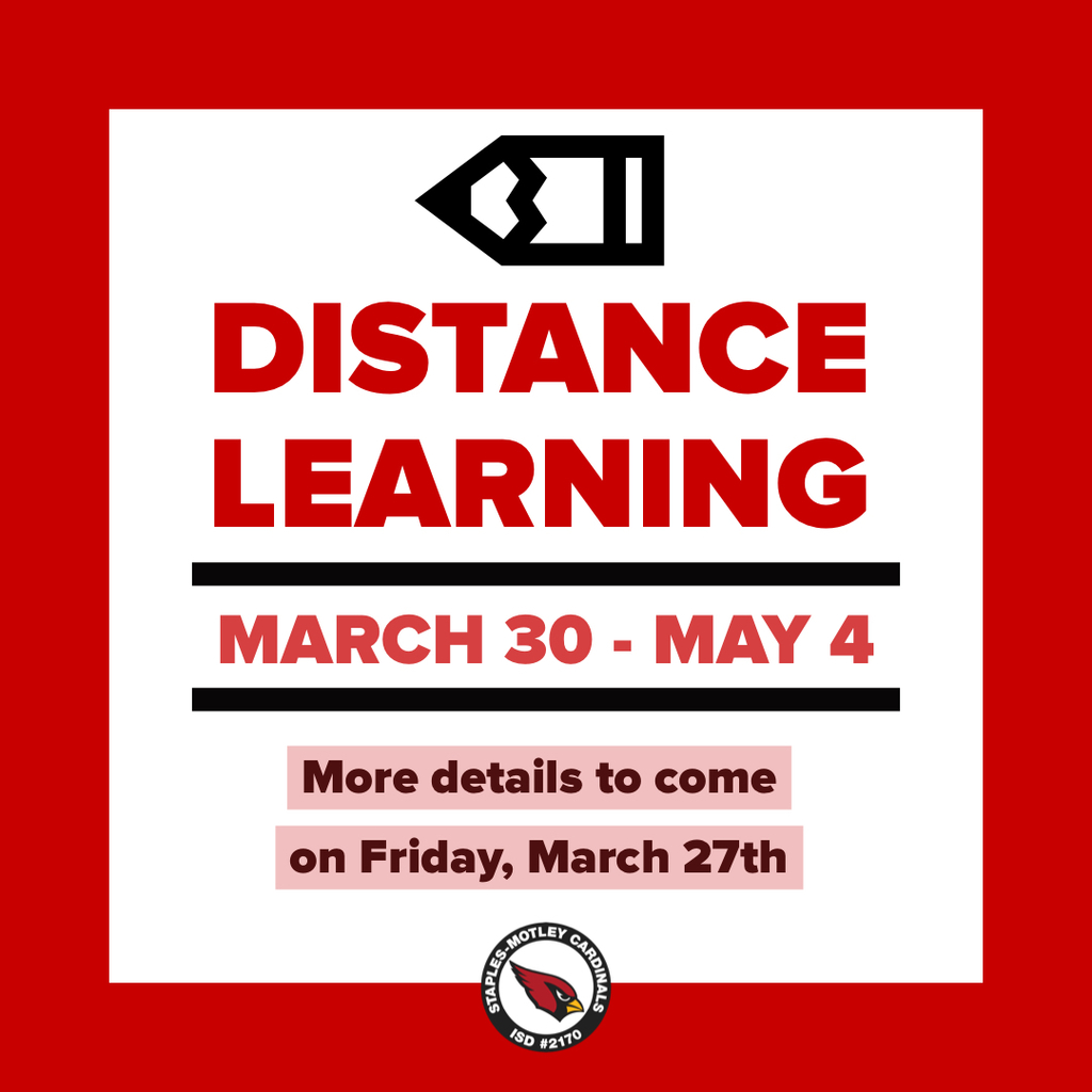Distance learning begins March 30