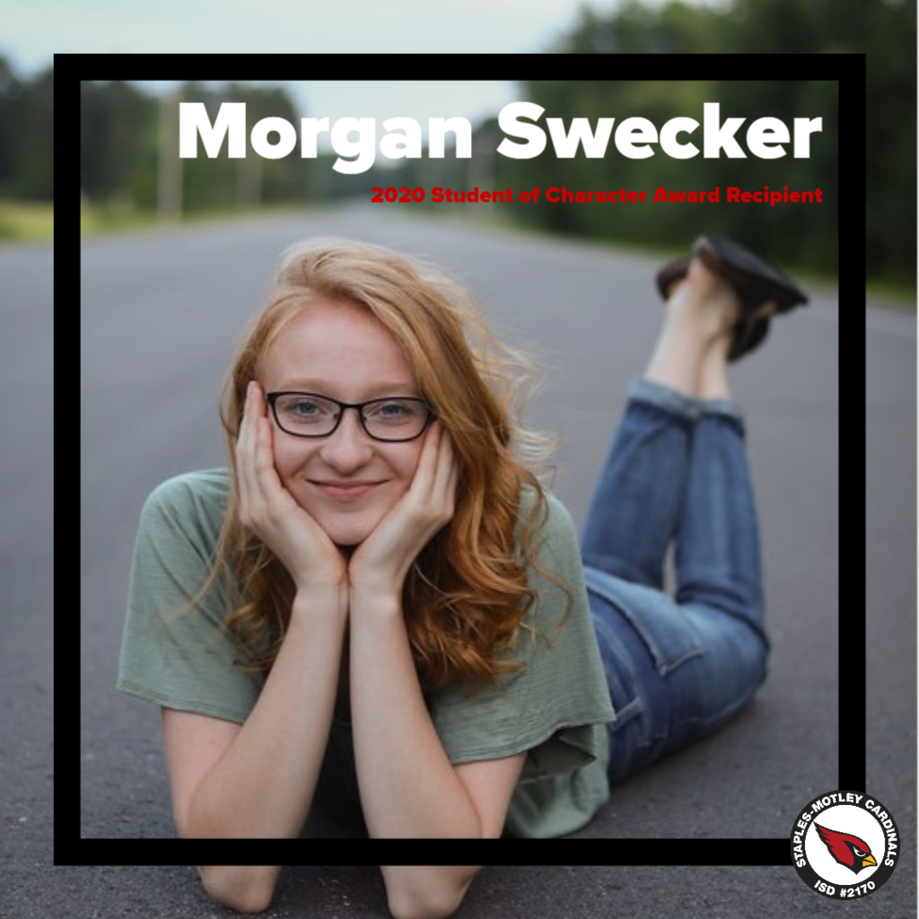 Morgan Swecker - 2020 Student of Character Award Recipient