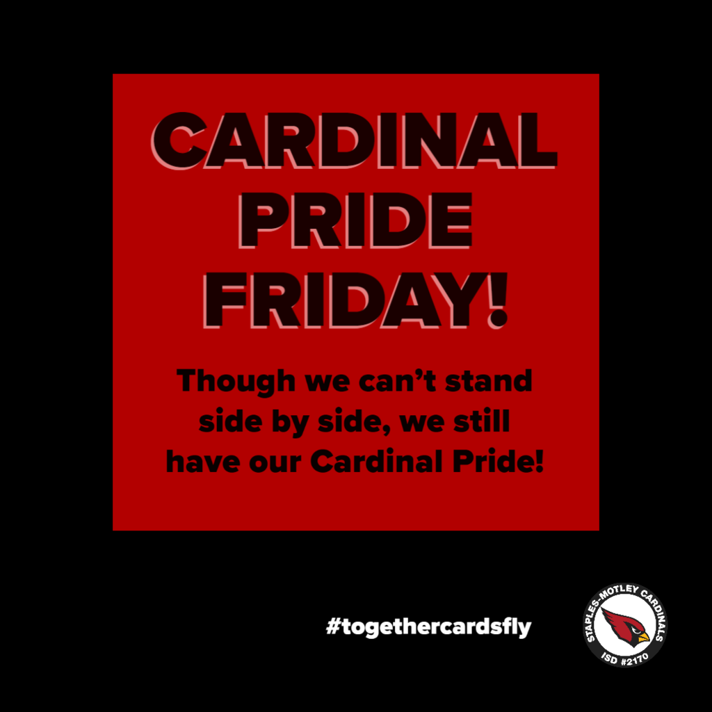 Let's see that Cardinal Pride!