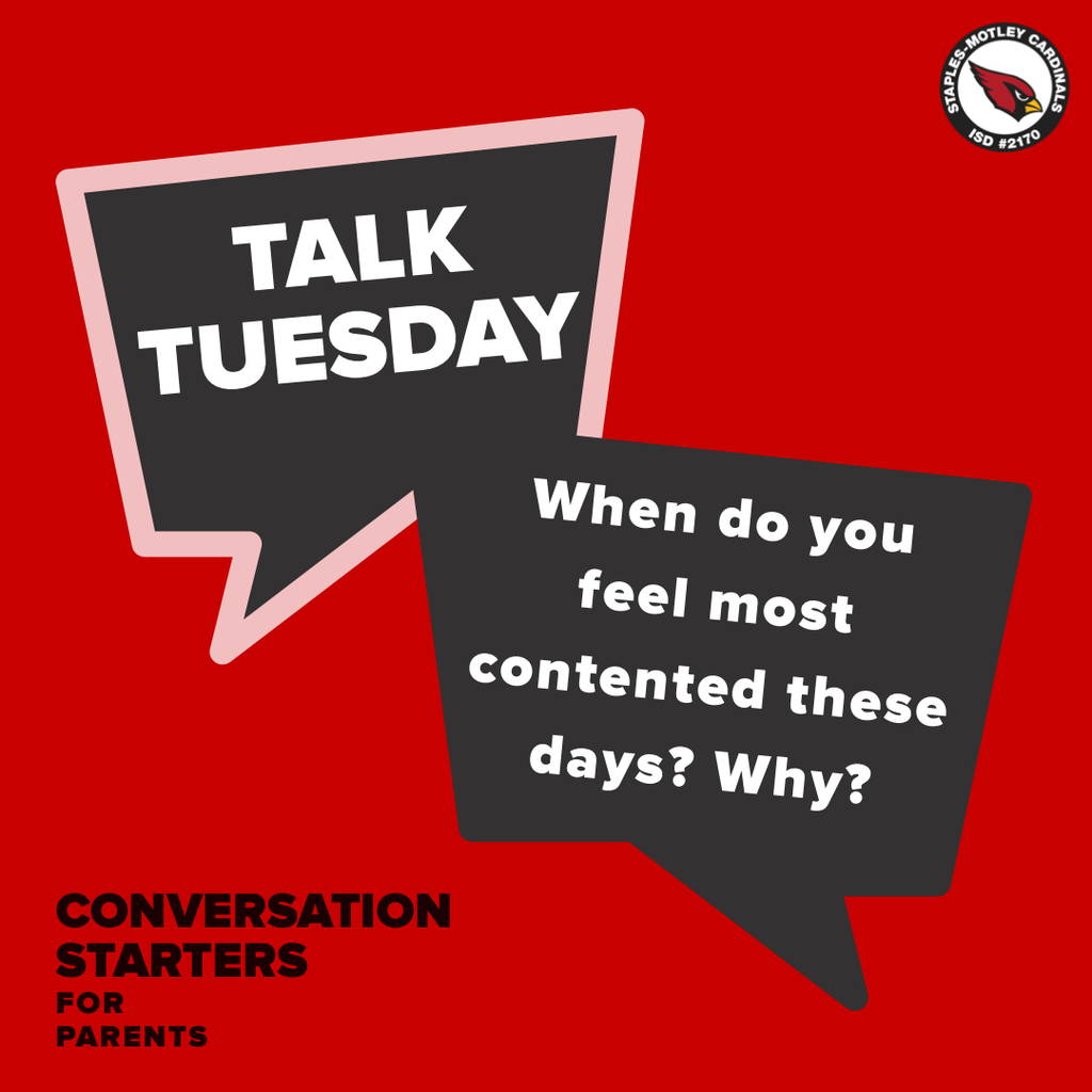 Talk Tuesday: When do you feel most contented these days? Why?
