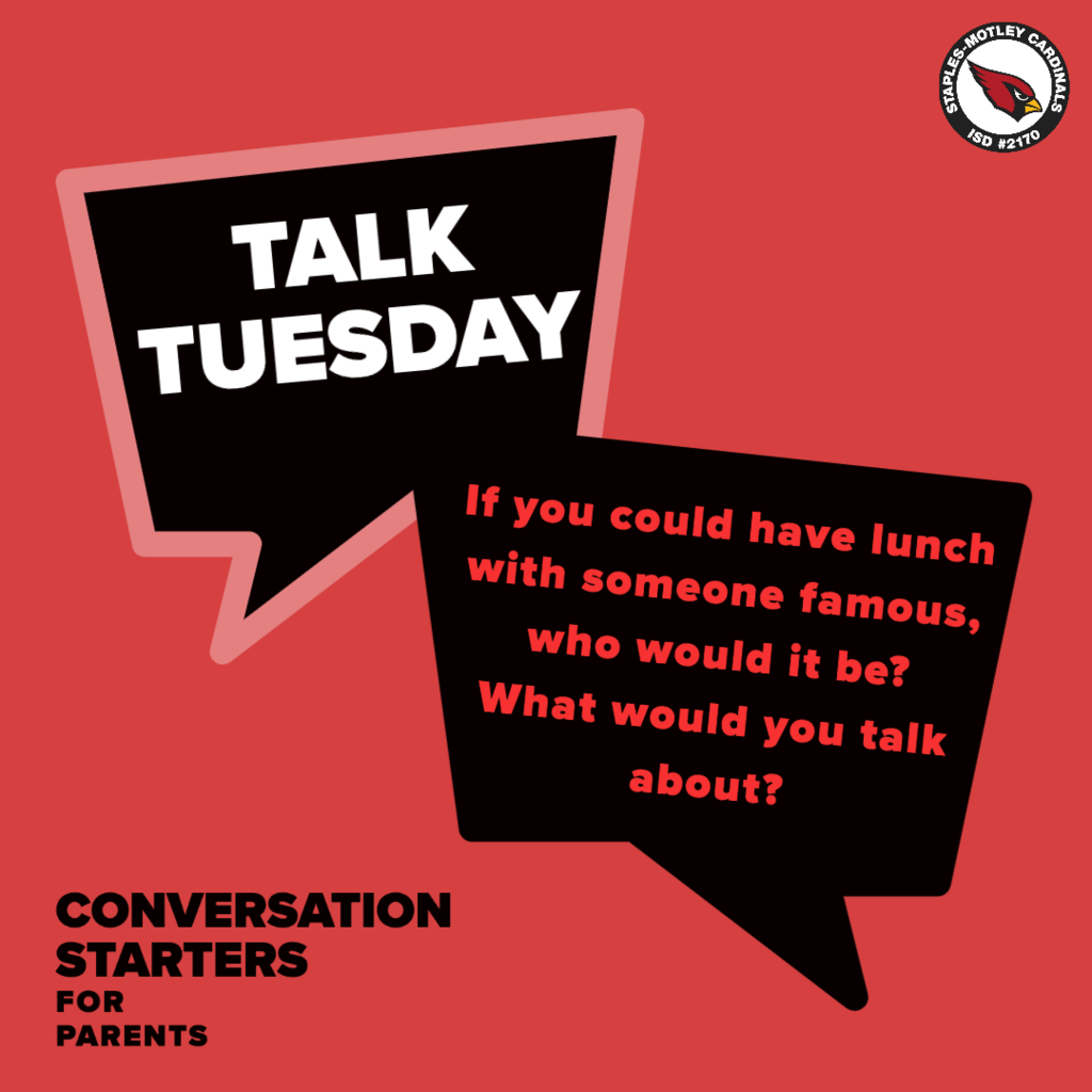 Talk Tuesday: If you could have lunch with someone famous, who would it be? What would you talk about?