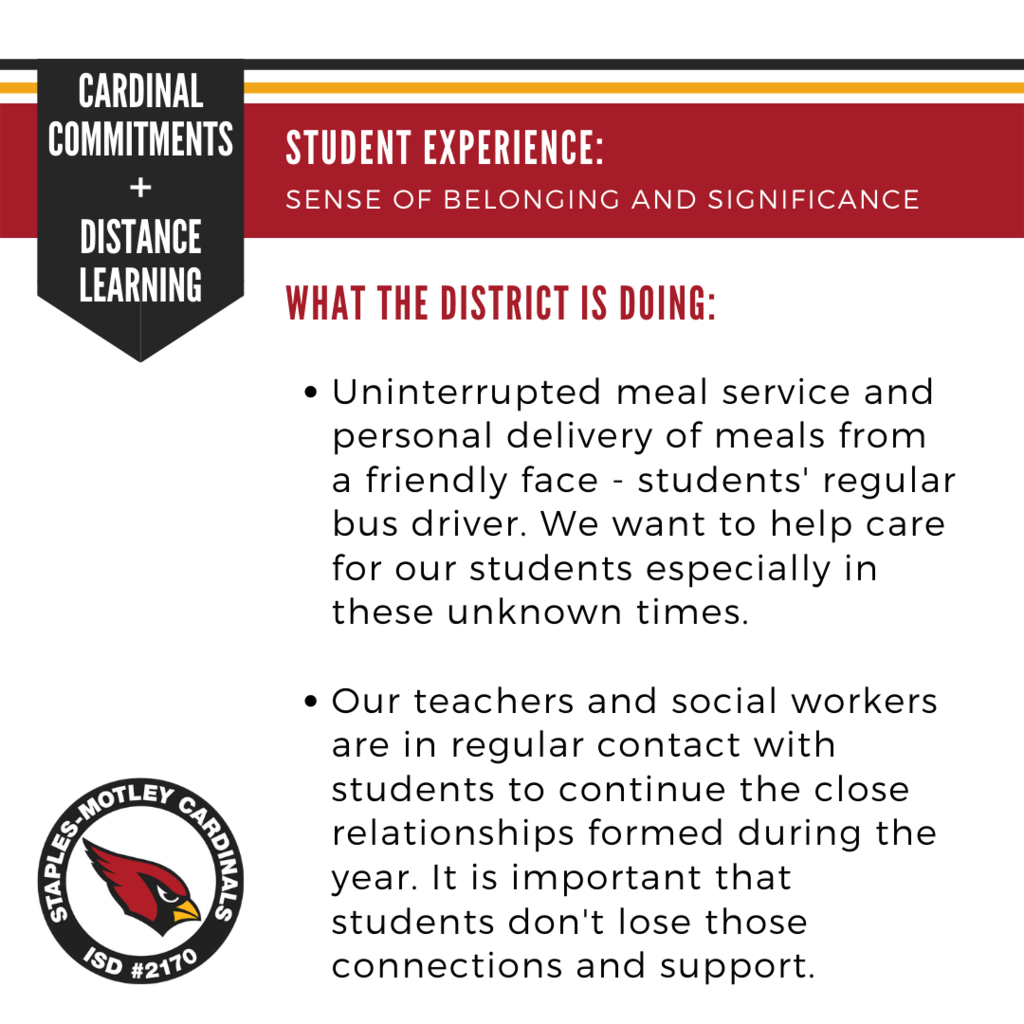 Cardinal Commitments: Student Experience, a sense of belonging and significance