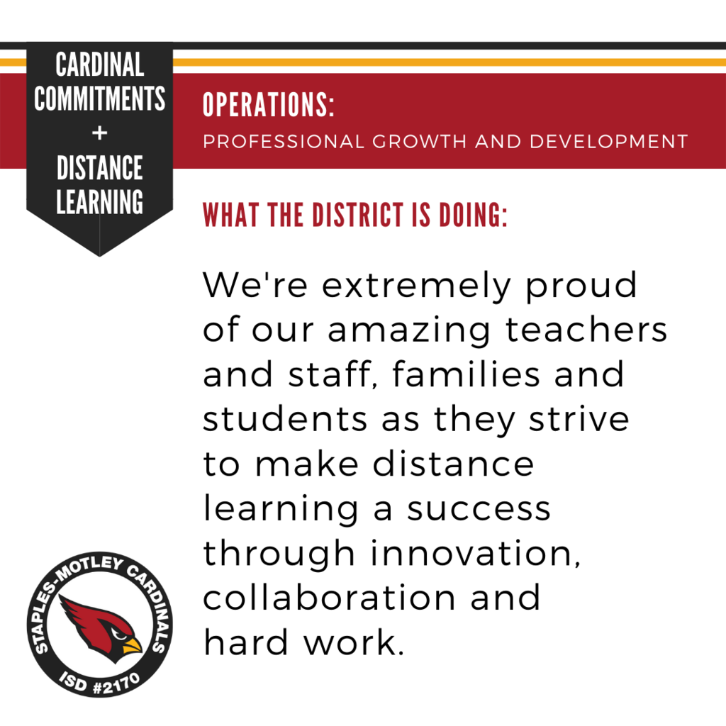 We're extremely proud of our amazing teachers and staff, families and students as they strive to make distance learning a success through innovation, collaboration and hard work.