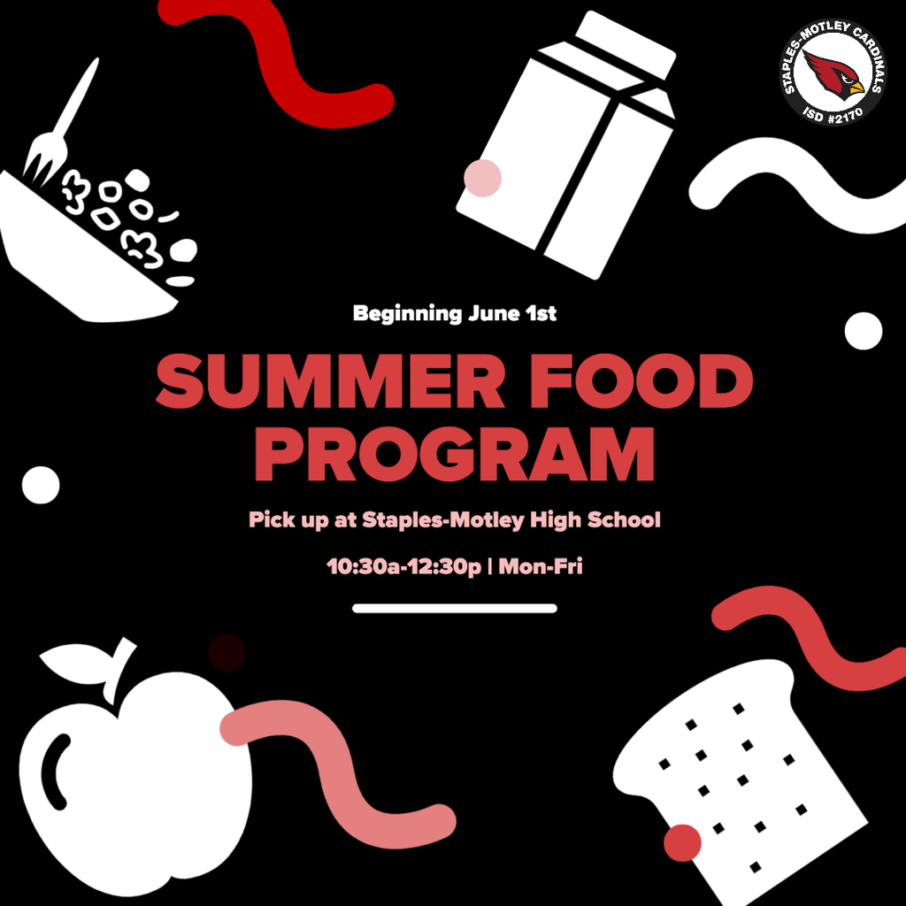 Summer Food Program begins June 1st - No meals available the last week of May.