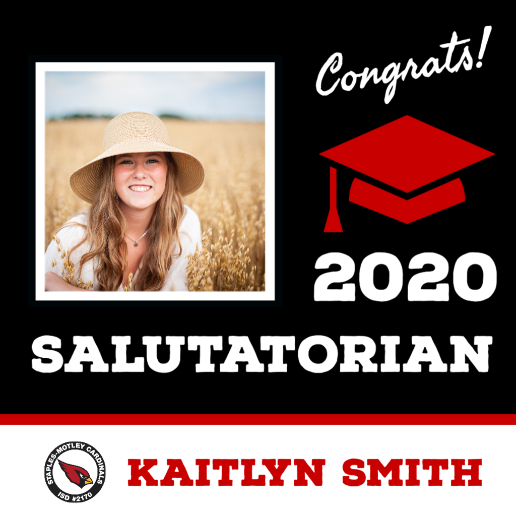 2020 Salutatorian - Kaitlyn Smith